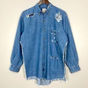 Furst Of A Kind Vintage Destructed Denim Shirt